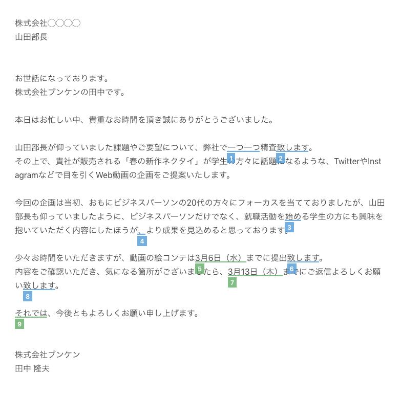 文賢の推敲支援機能の画面